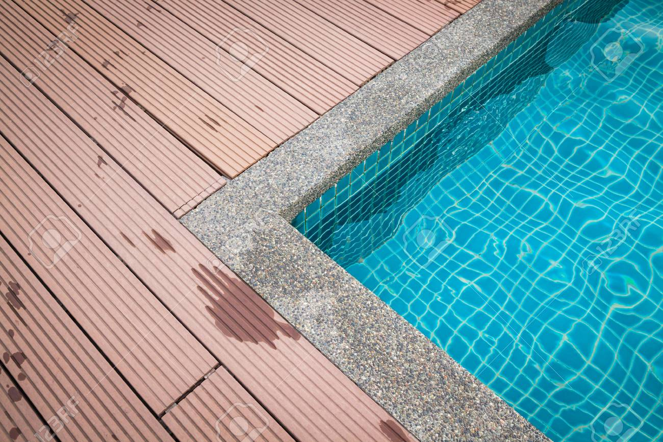 swimming pool edge in Melaka at Malaysia.