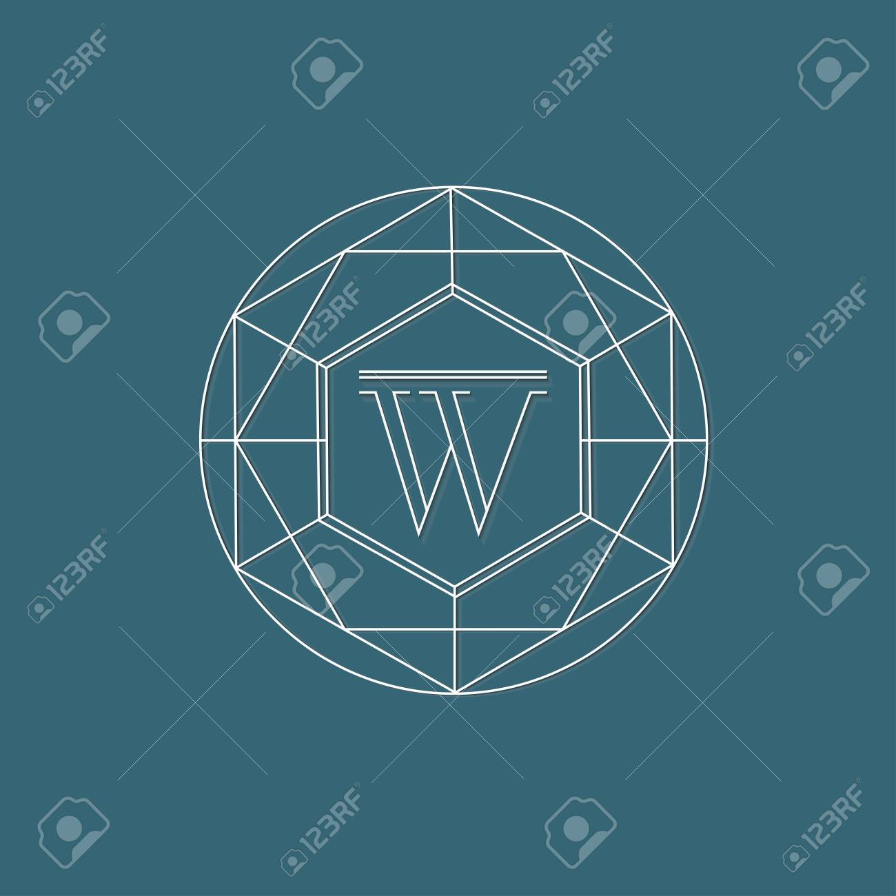 line monogram template design royalty free cliparts vectors and
