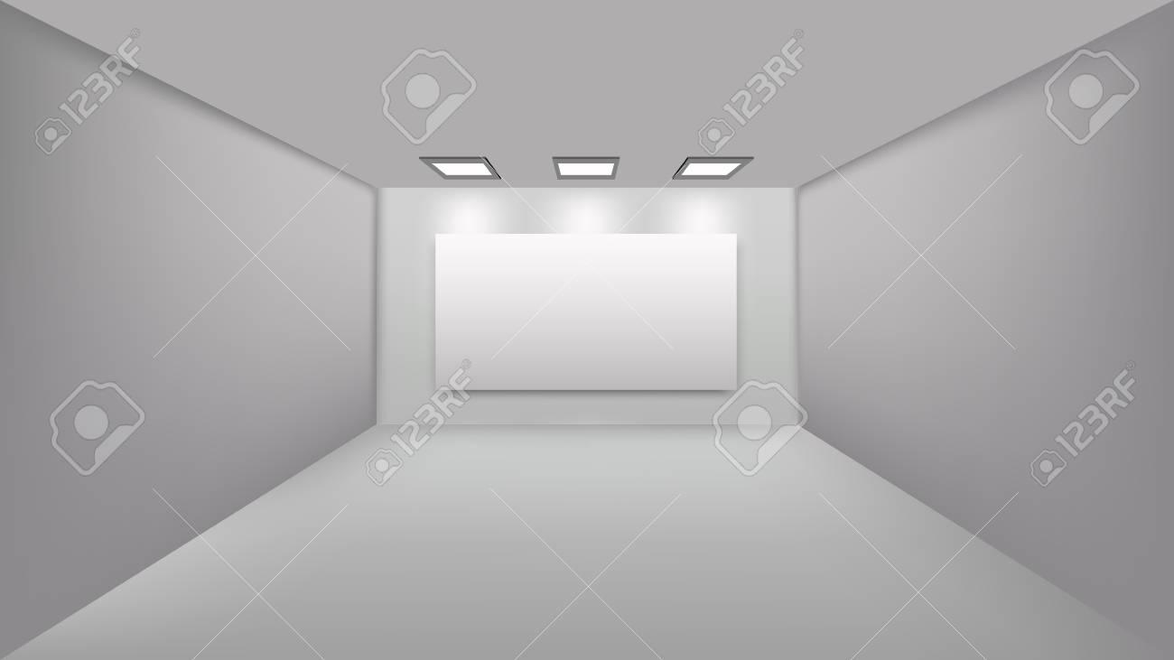 Chambre Et Tableau De Perspective Vide Pour La Décoration D ...
