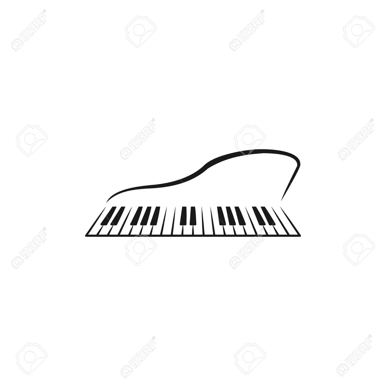 Clip Art Music Logo Black And White