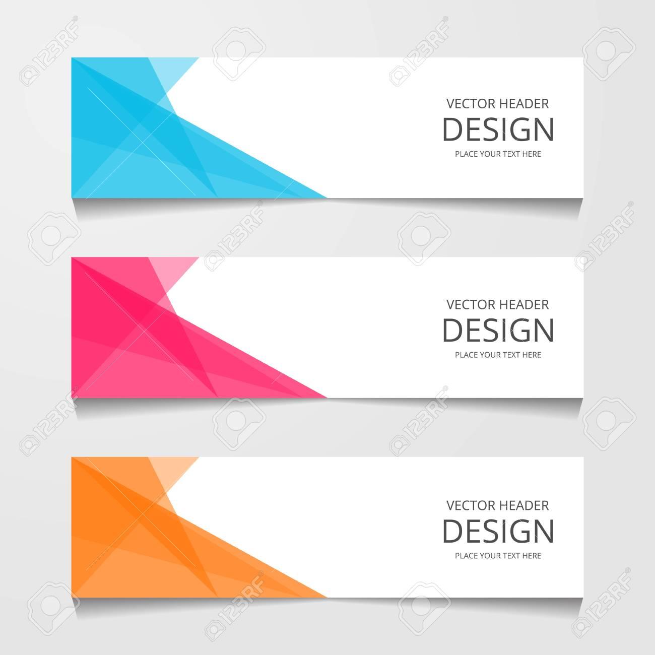 Abstract design banner, web template, layout header templates, modern vector illustration - 112314900