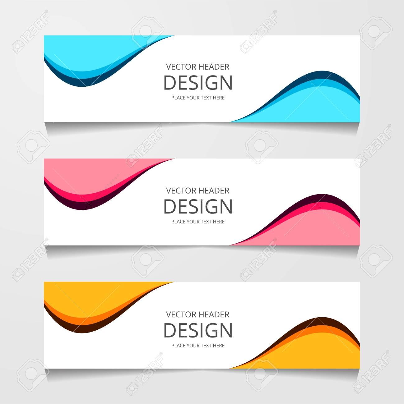 Abstract design banner, web template, layout header templates, modern vector illustration - 112314908