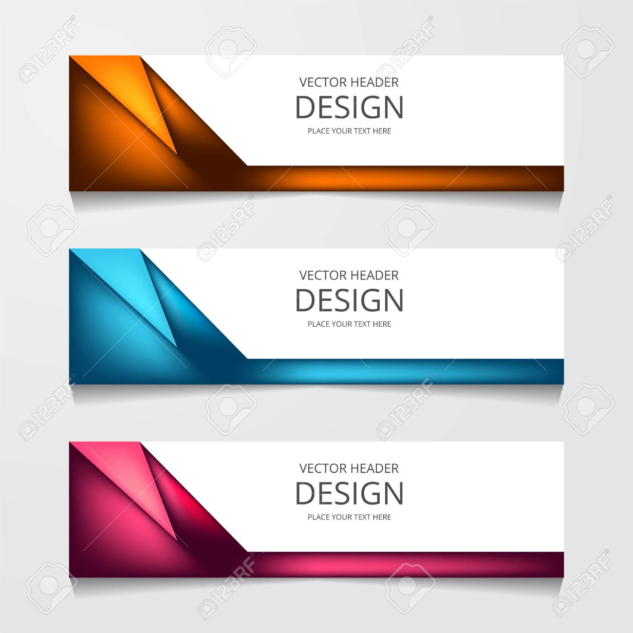Vector Abstract Web Banner Design Template Collection Of Web