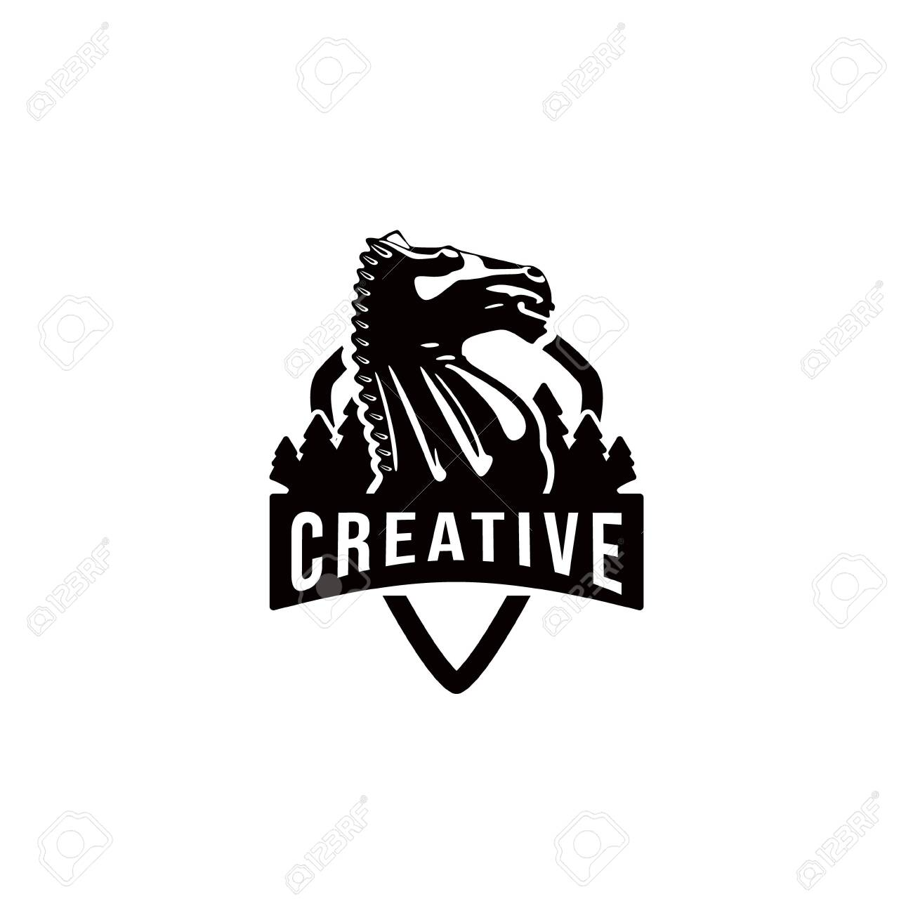 Creative Knight Horse Chess With Pine Logo Ideas Inspiration Royalty Free Cliparts Vectors And Stock Illustration Image 140691511