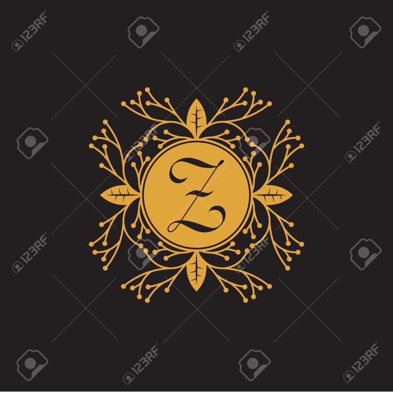 Initial Letter z, Luxury Logo for boutique, cosmetic, or jewelery logo design. Vector Illustration - 144490008