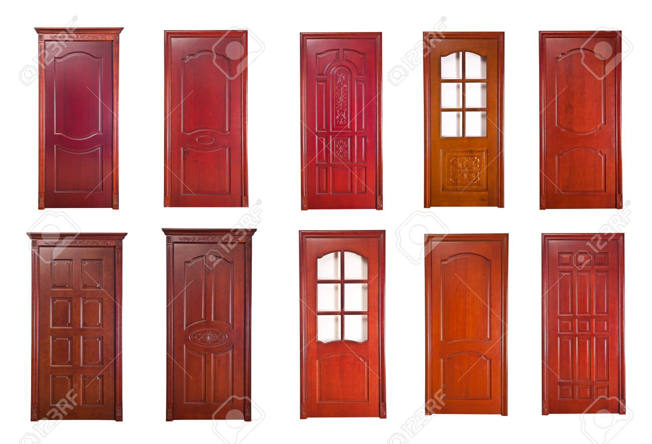 Wood door renderings Stock Photo - 17360773