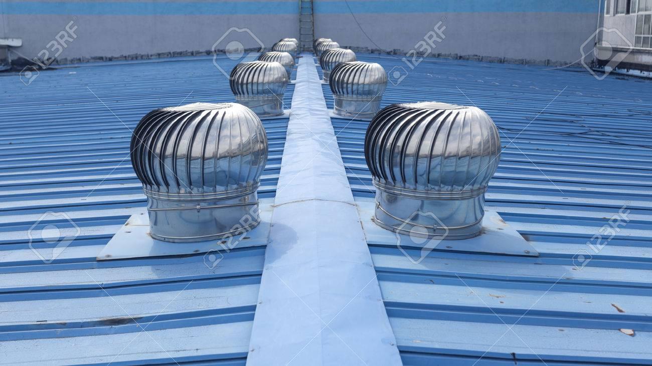 stock photo turbine roof vents - Turbine Roof Vents