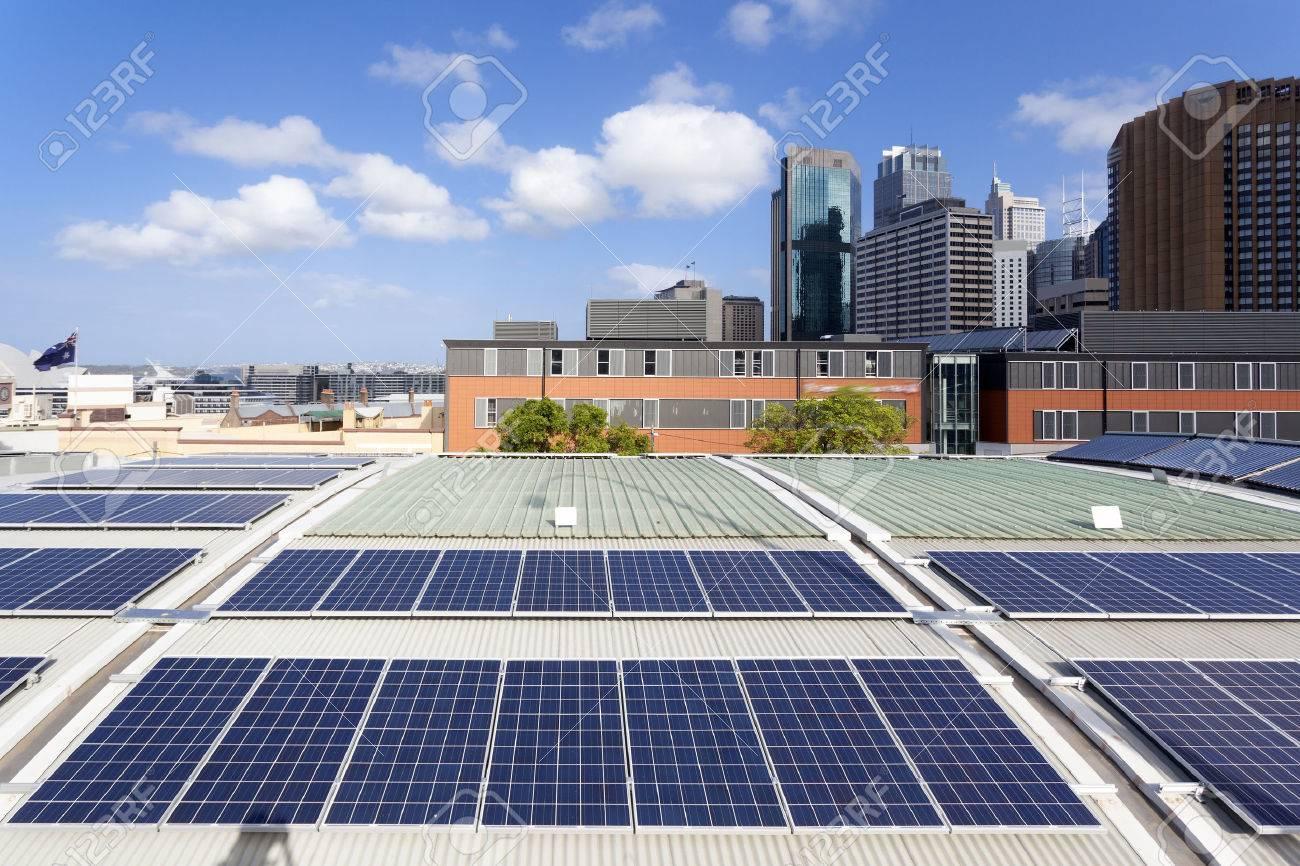 Rooftop solar panels - 50194826