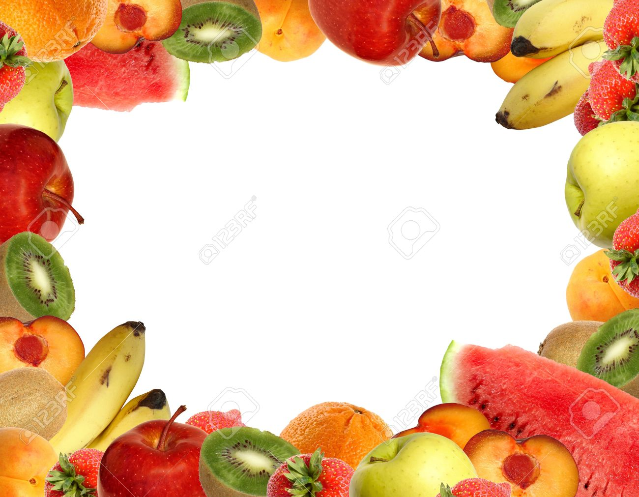 Fruit collection isolated on white. Stock Photo - 3123539