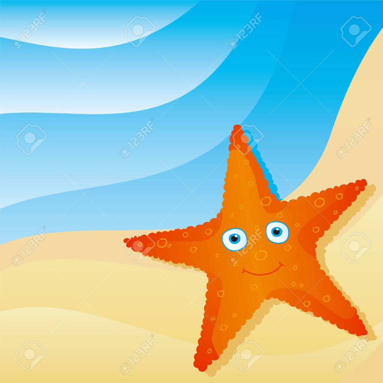 cute little starfish Stock Vector - 4597394