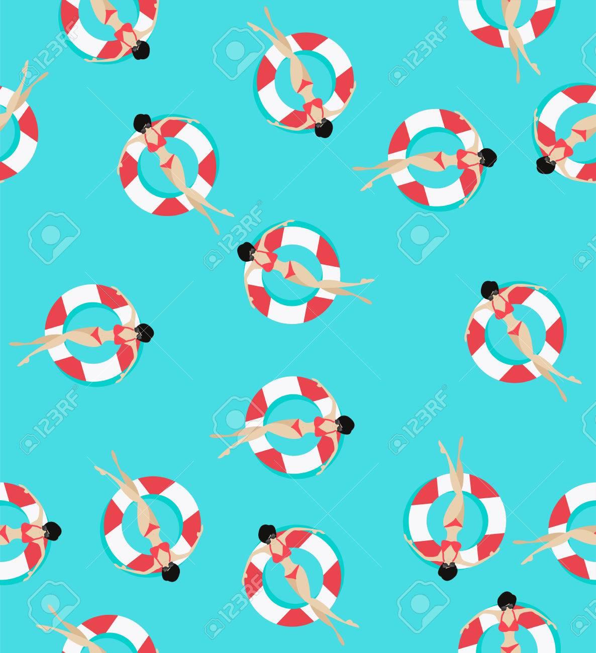 Swim rings pattern - 82665435