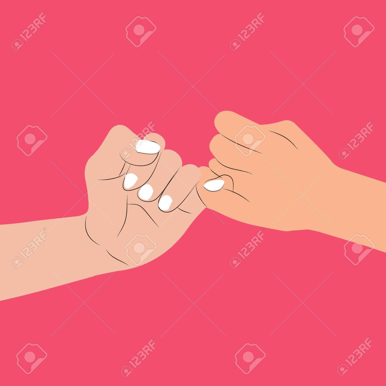 hand holding Pinky swear - 82661630