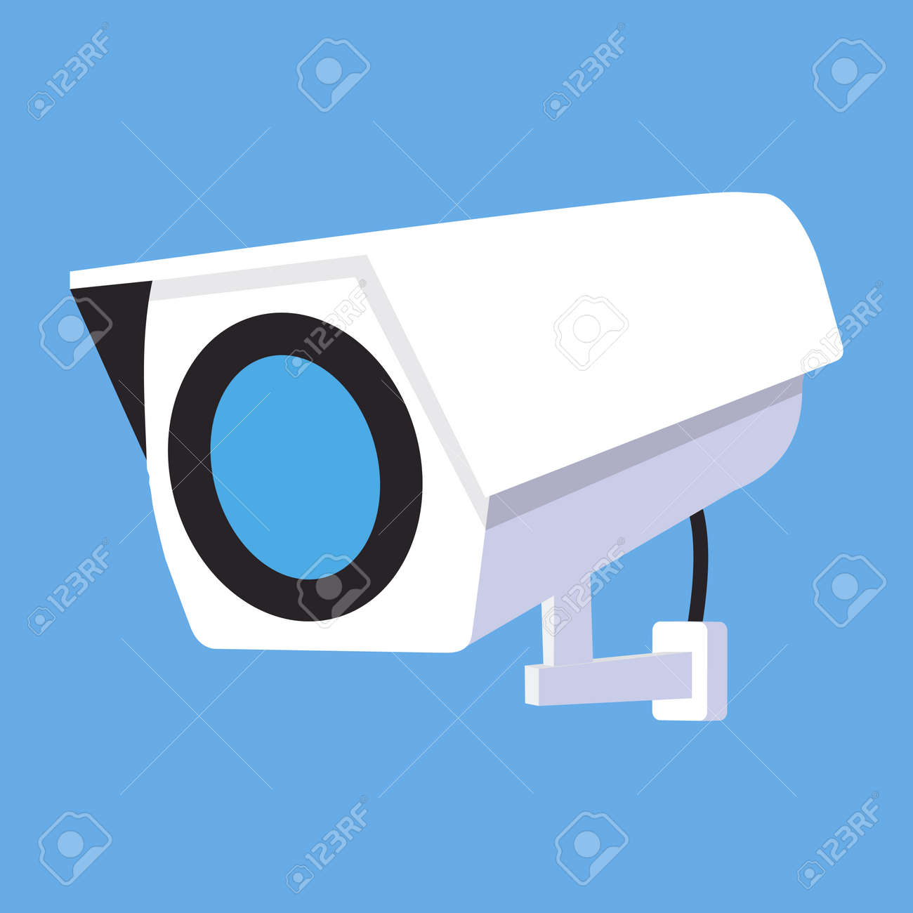 CCTV Security camera flat vector concept - 168920109