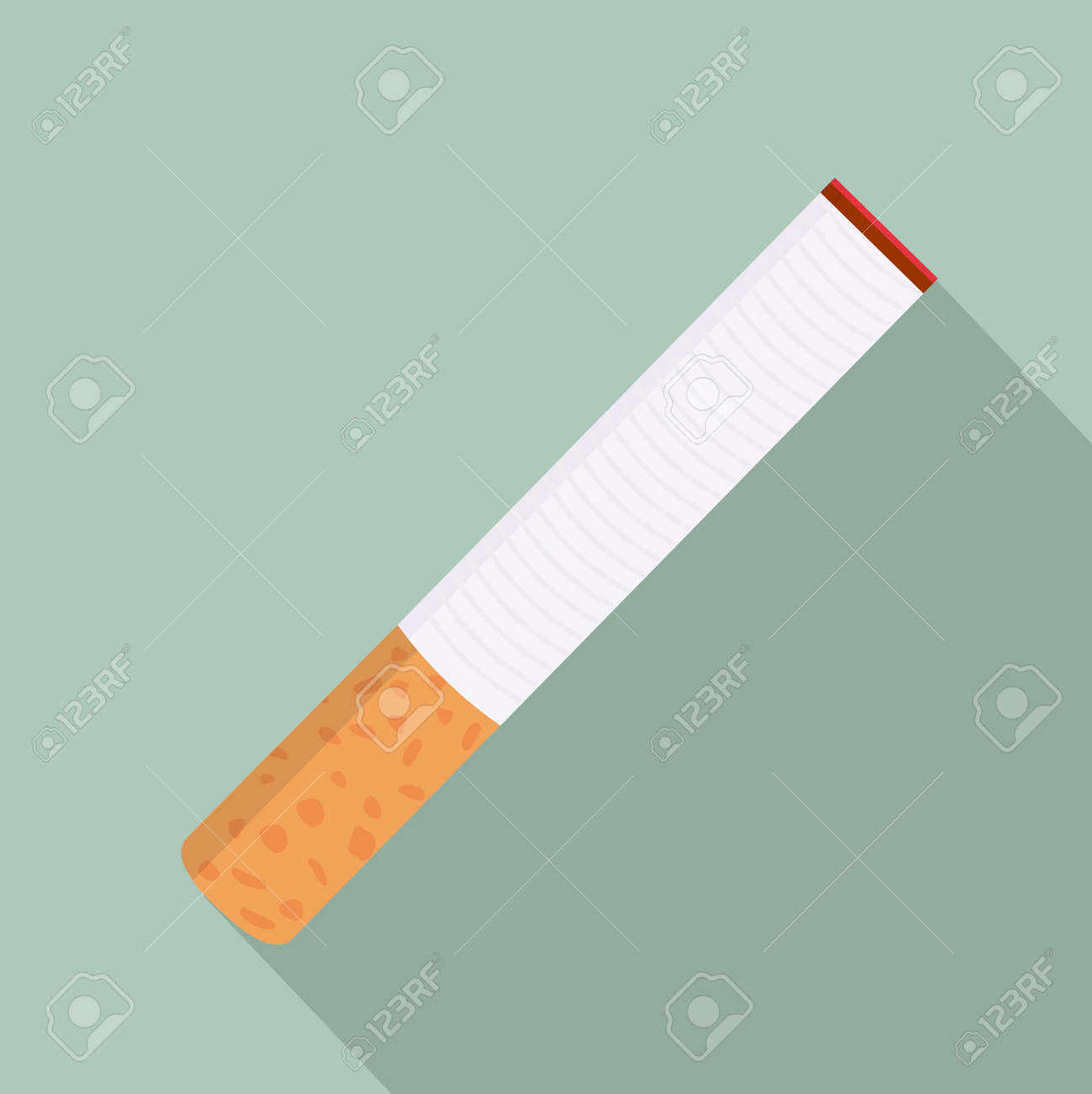 Cigarette filters with long shadow sign - 168920258