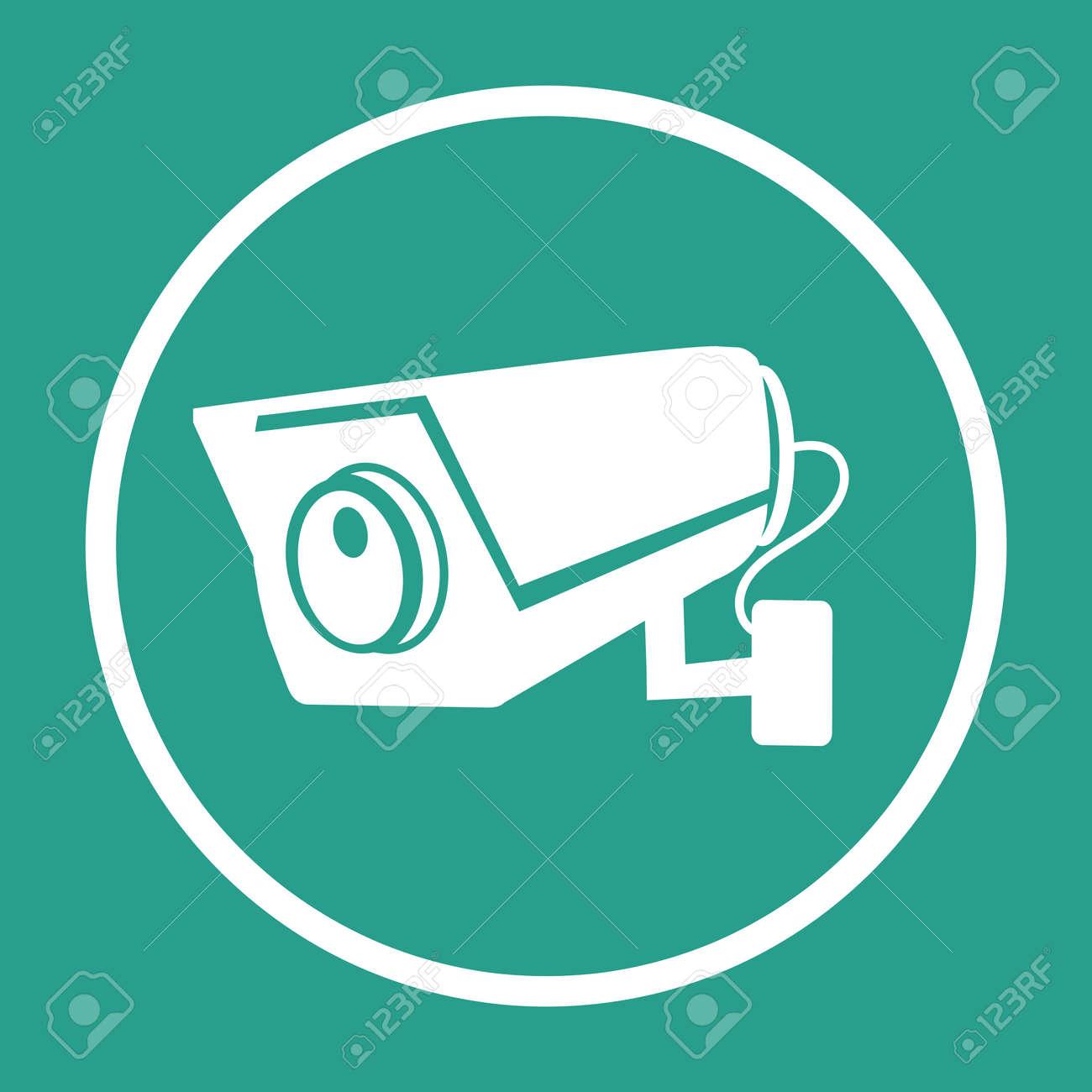 CCTV Security camera flat vector icon sign - 168920288