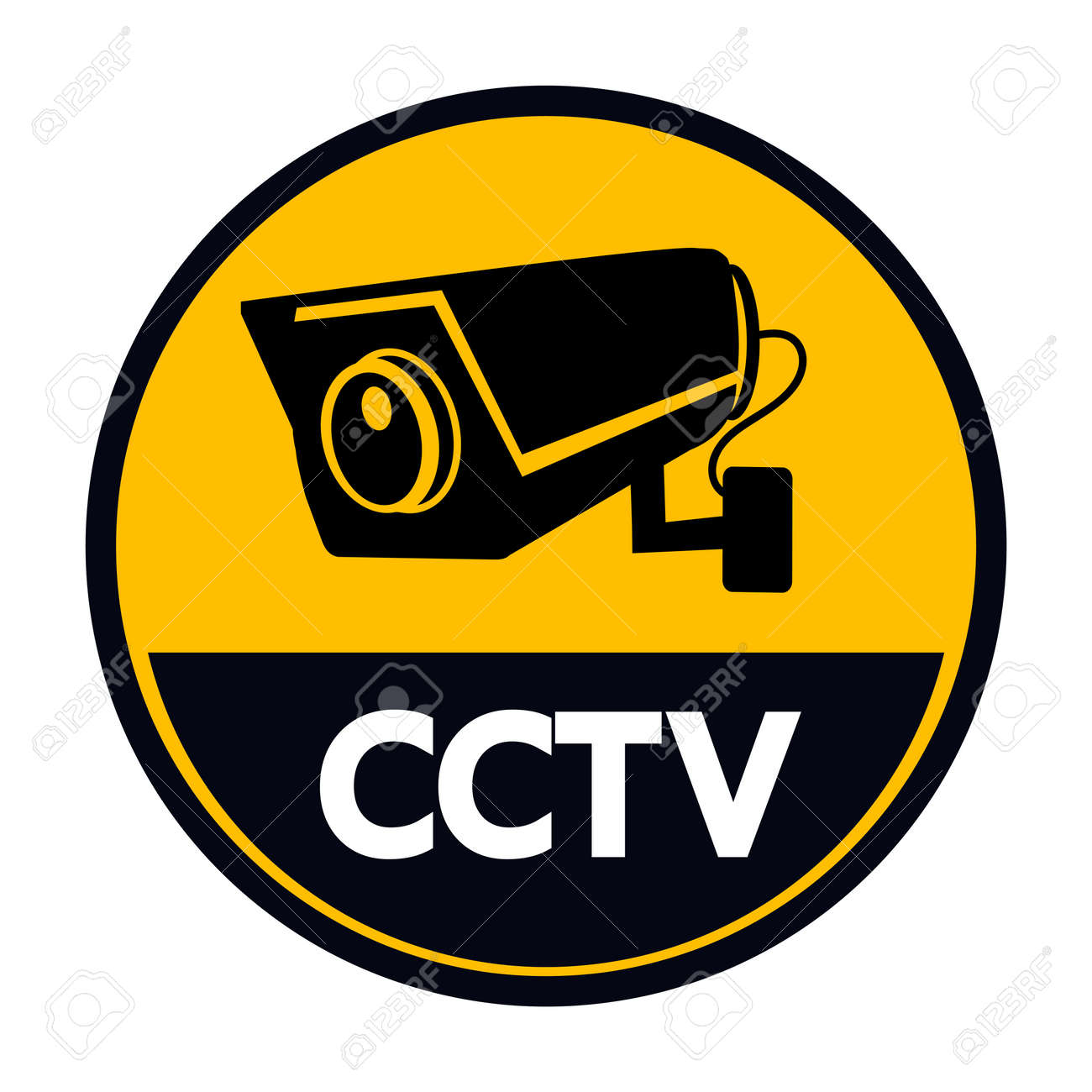 CCTV Security camera vector isolated sign - 168920469