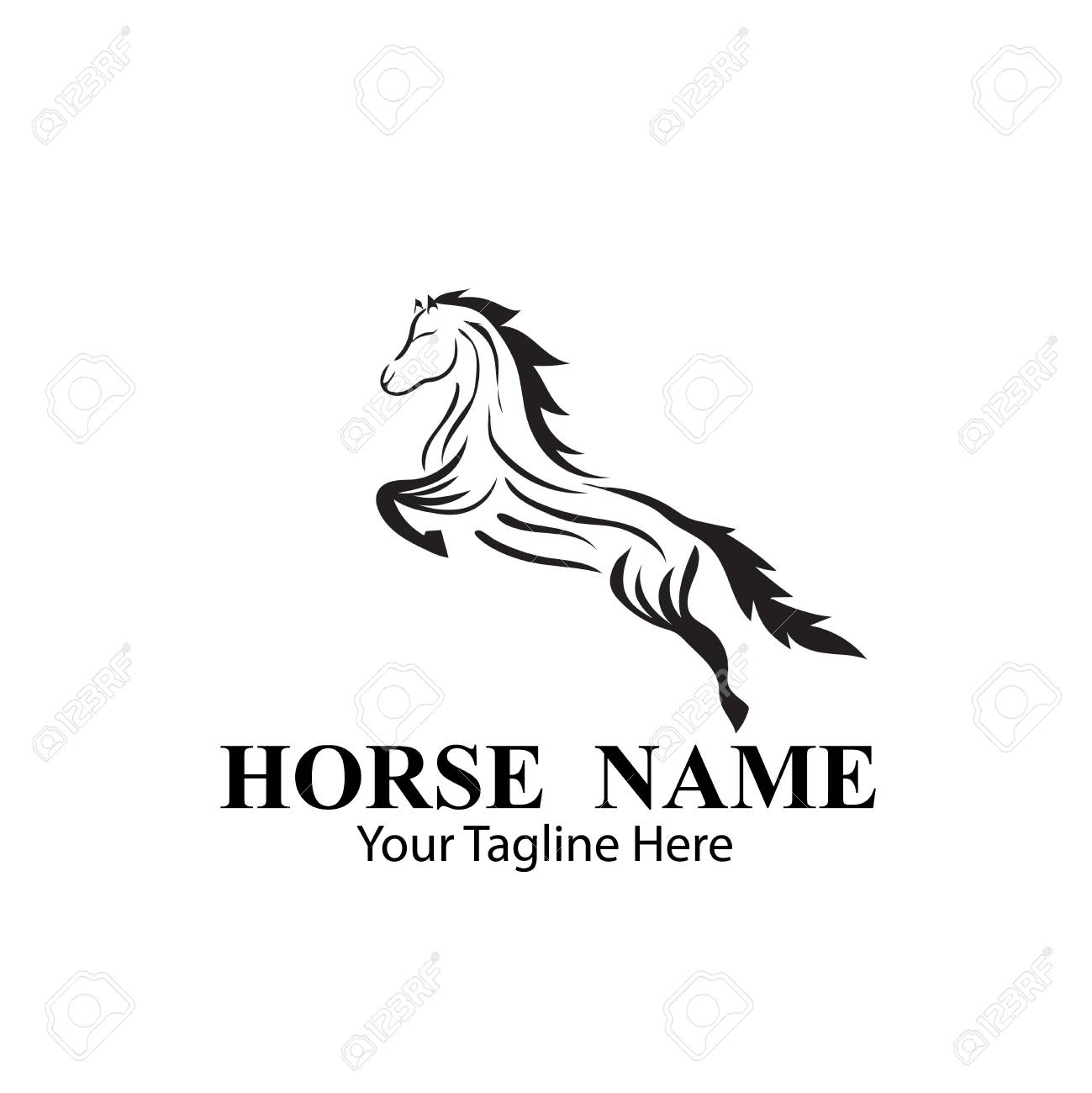 Horse Logo Designs Concept Royalty Free Cliparts Vectors And Stock Illustration Image 117596669
