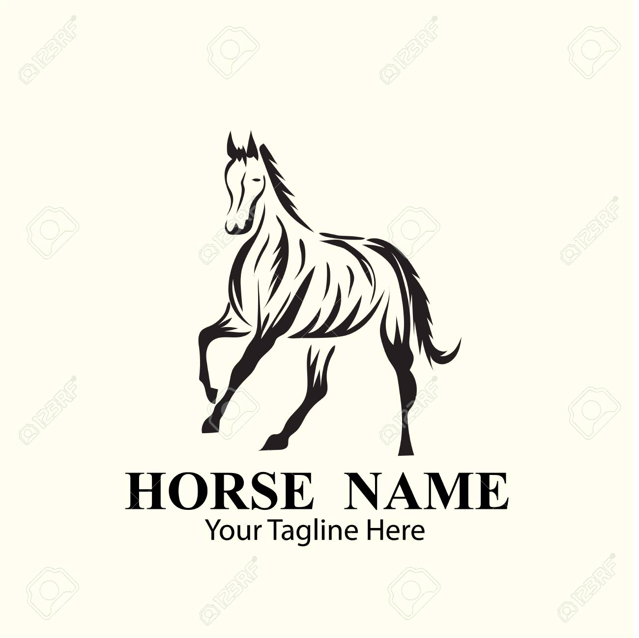 Horse Logo Designs Concept Royalty Free Cliparts Vectors And Stock Illustration Image 117596672