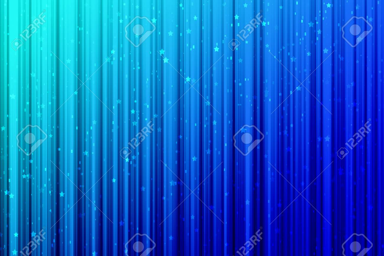Light Blue Gradient Graphic Background With Shiny Stars And Sparkle