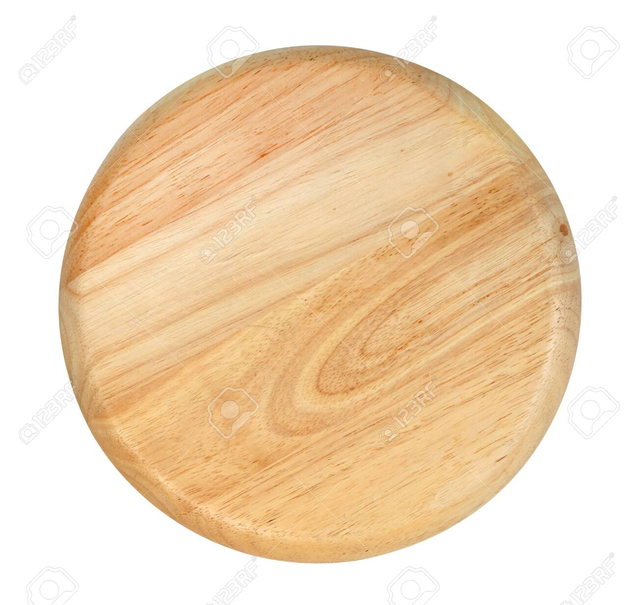 Wooden plate isolated on white background ,include clipping path - 143220919