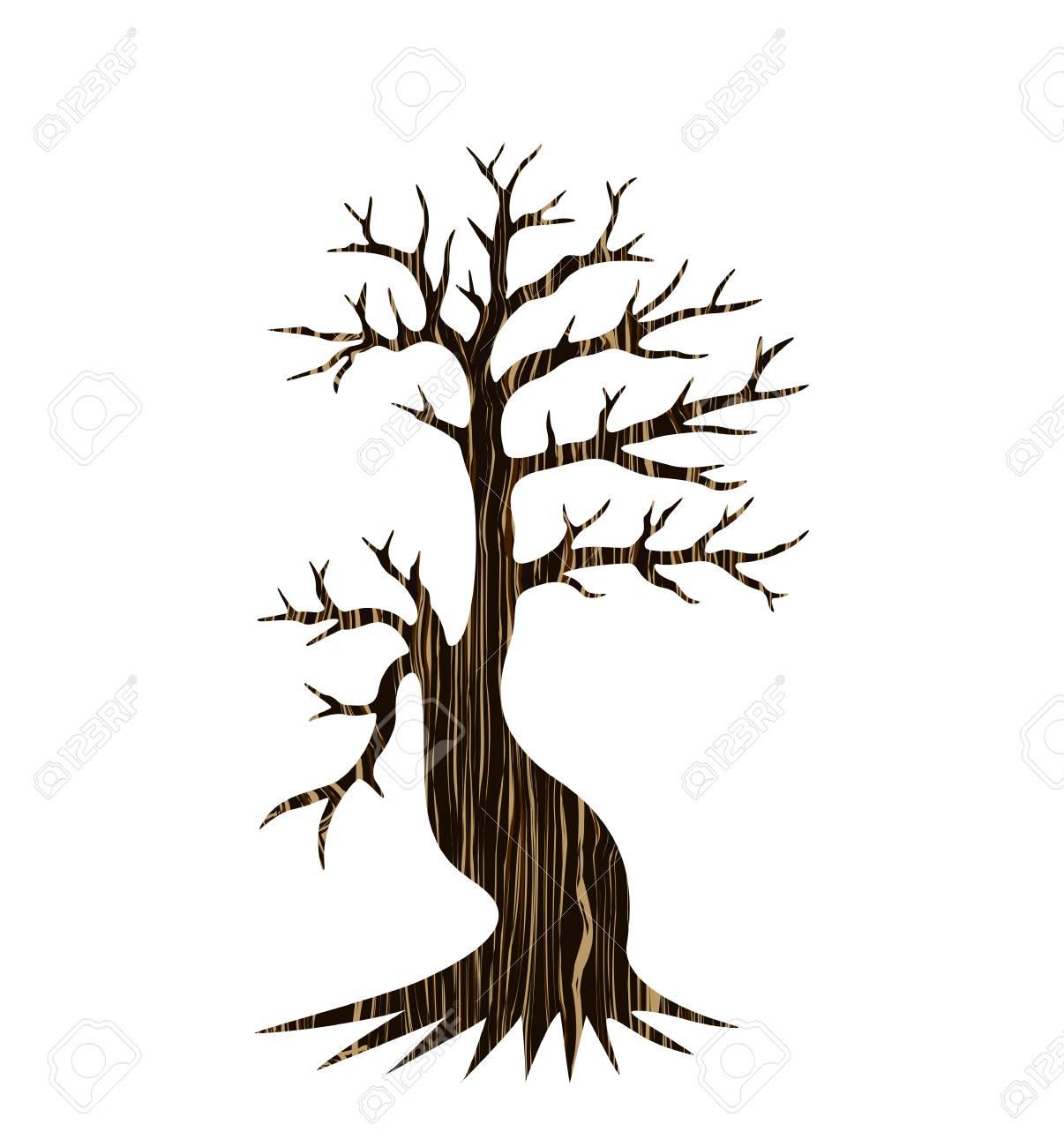 arbre décoratif silhouette clip art libres de droits , vecteurs et