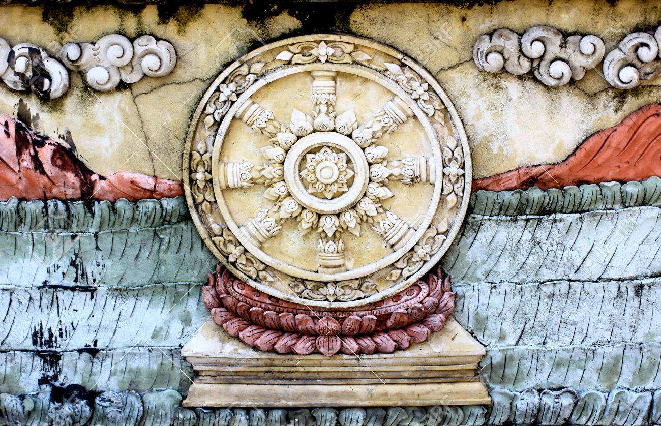 Buddhist circles on the wall Stock Photo - 14046422