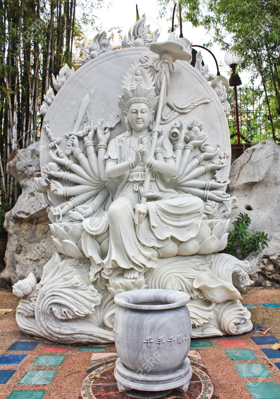 Stone carving of a Buddha Stock Photo - 14149325