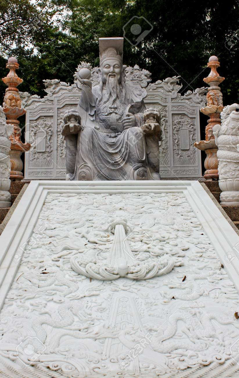 Marble Chinese god statue,bankkok,thailand Stock Photo - 14134522