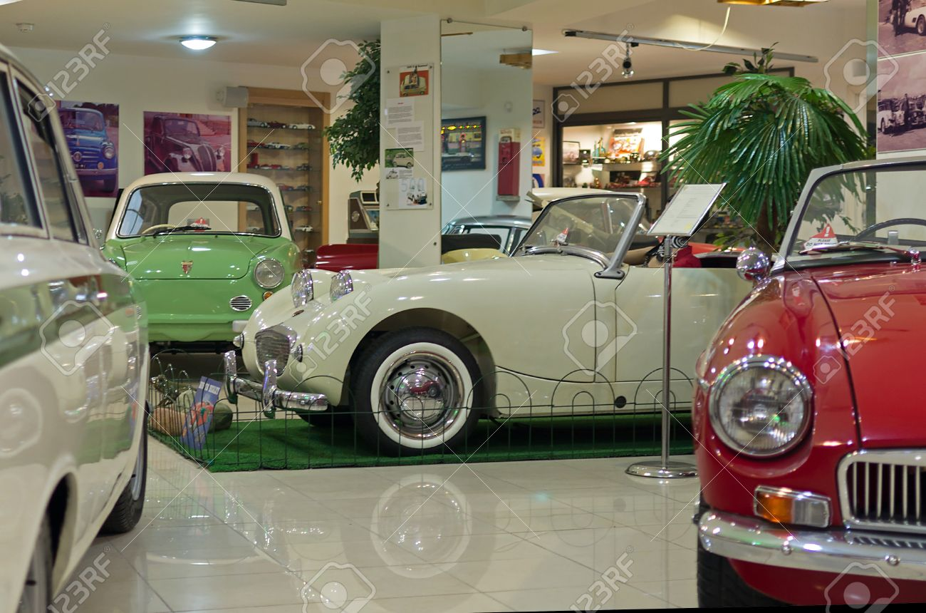 Qawra July 13 Old Car Inside The Malta Classic Car Collection