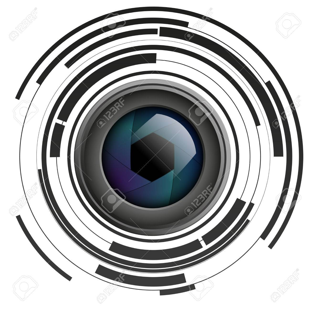 shutter apertures on abstract background camera objective lens rh 123rf com camera lens vector illustrator camera lens vector black and white