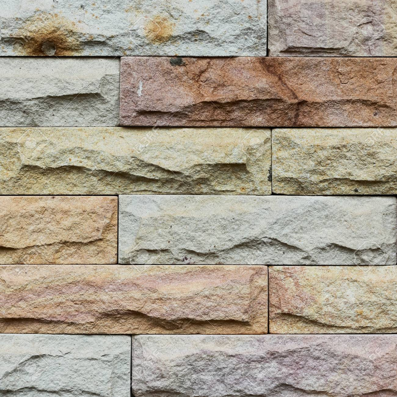 close up modern stone brick wall surfaced stock photo picture