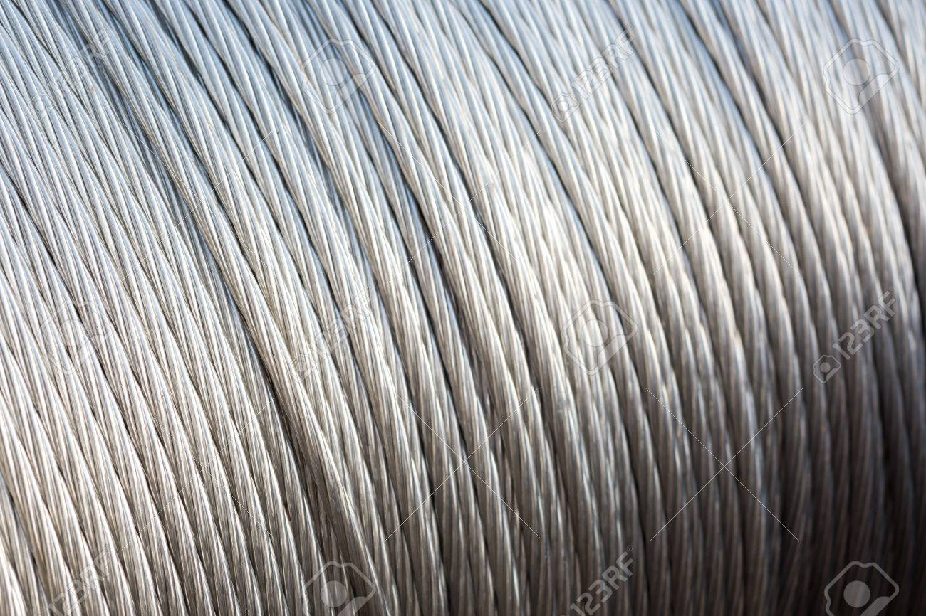 Close Up Of Steel Wire Rope Cable,Selective Focus. Stock Photo ...