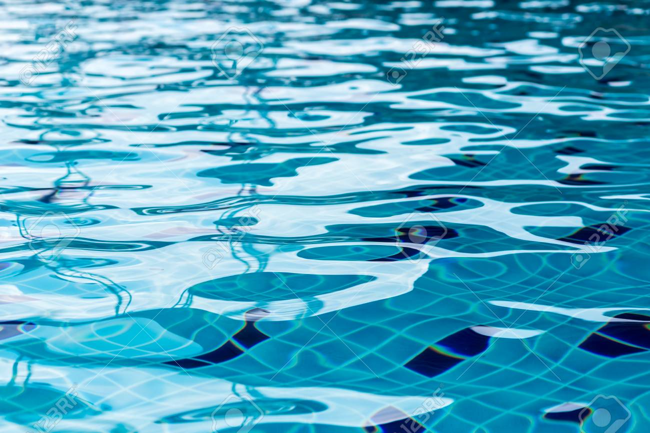 Abstract Of Swimming Pool Water Surface Stock Photo Picture And