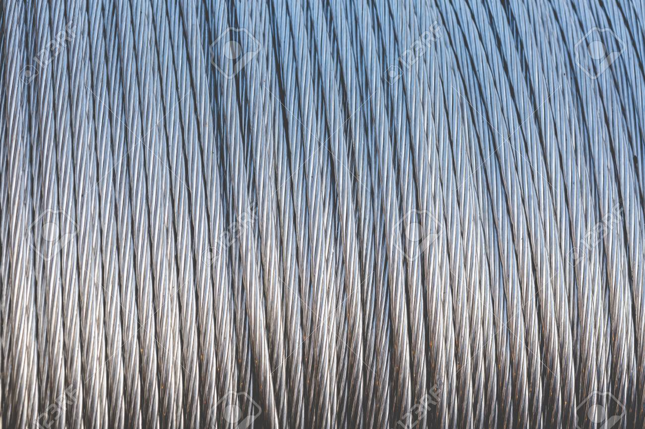 Close Up Of Steel Wire Rope Cable For Use As Texture Stock Photo ...