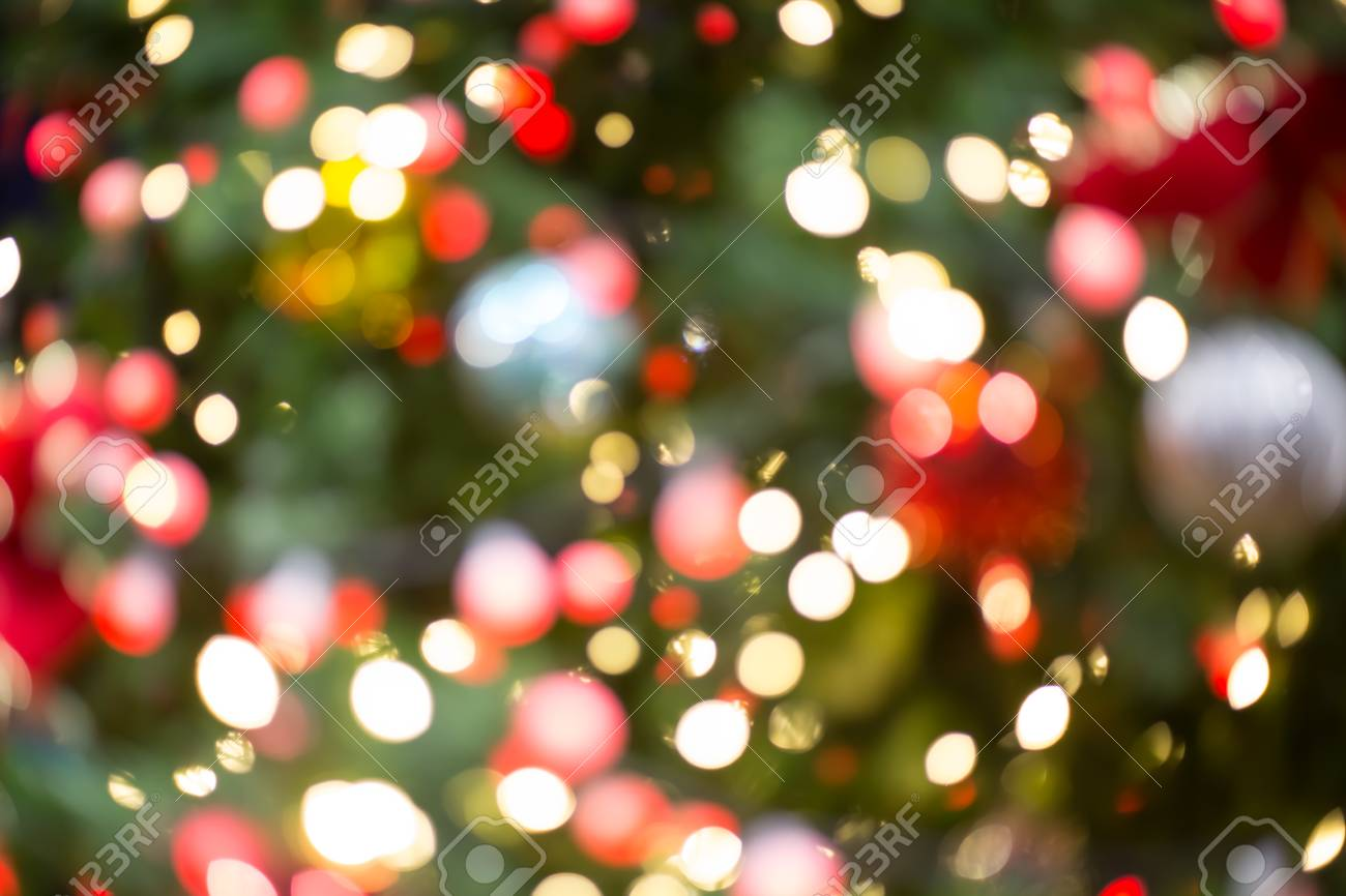 Colorful Red Yellow And Green Christmas Tree Bokeh Background Stock Photo Picture And Royalty Free Image Image 93382093