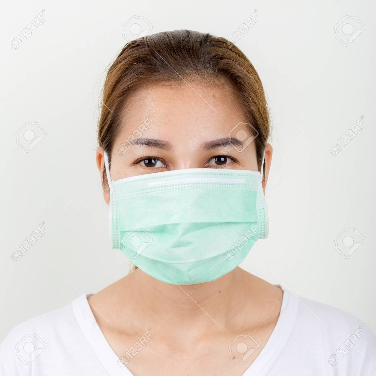 Face Asian Mask The Medical Using Closup Woman Of