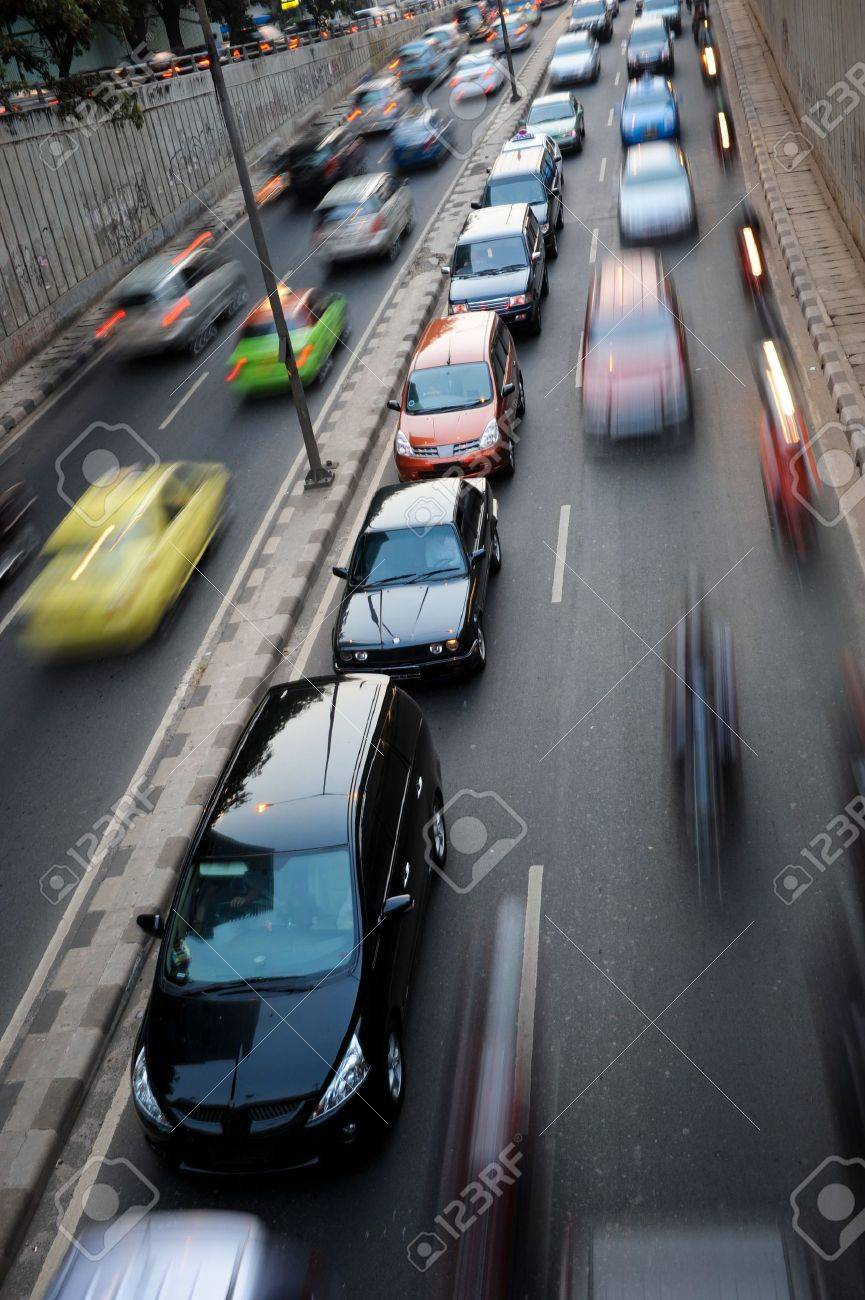 Traffic congestion in Jakarta, Indonesia Stock Photo - 6494694