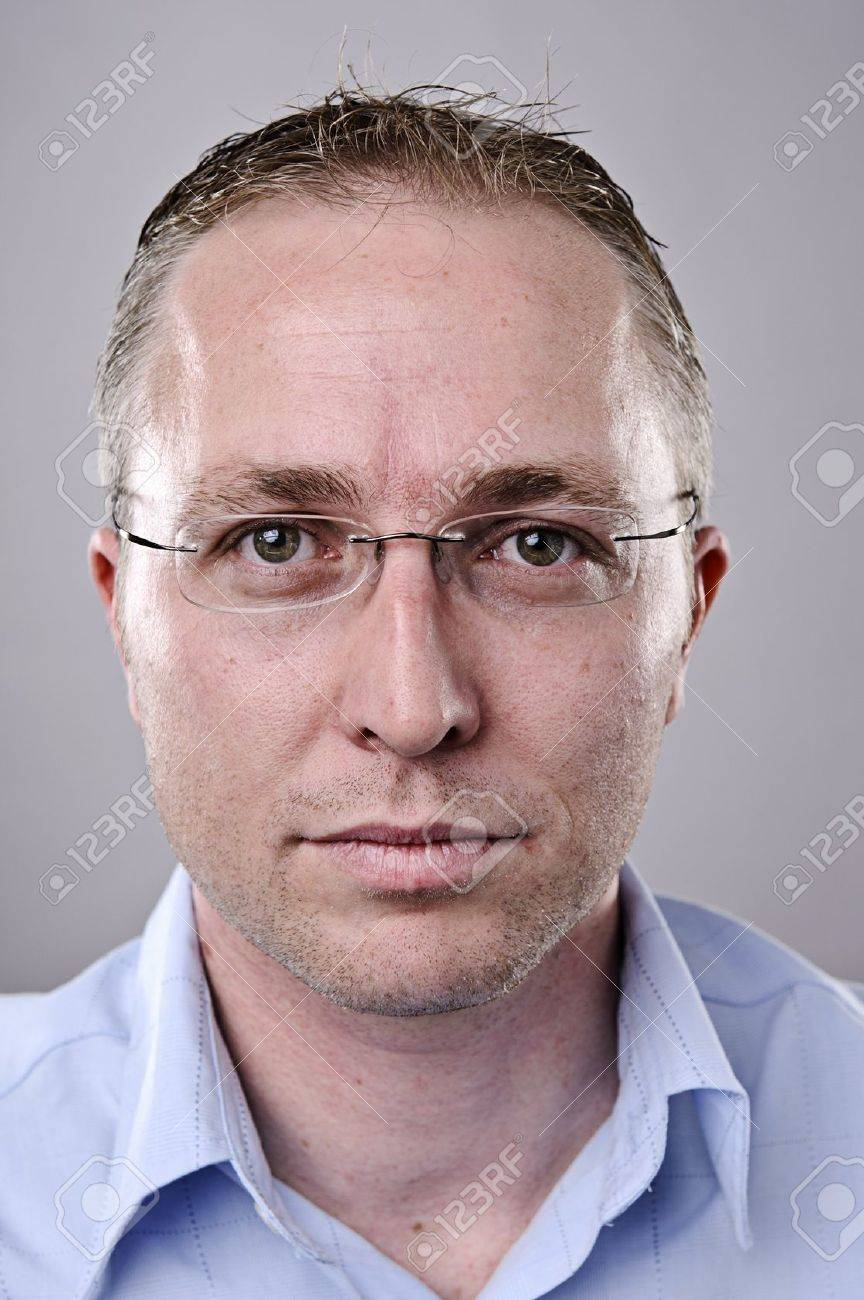 Fine art portrait of a young brunette man with glasses Stock Photo - 10142330