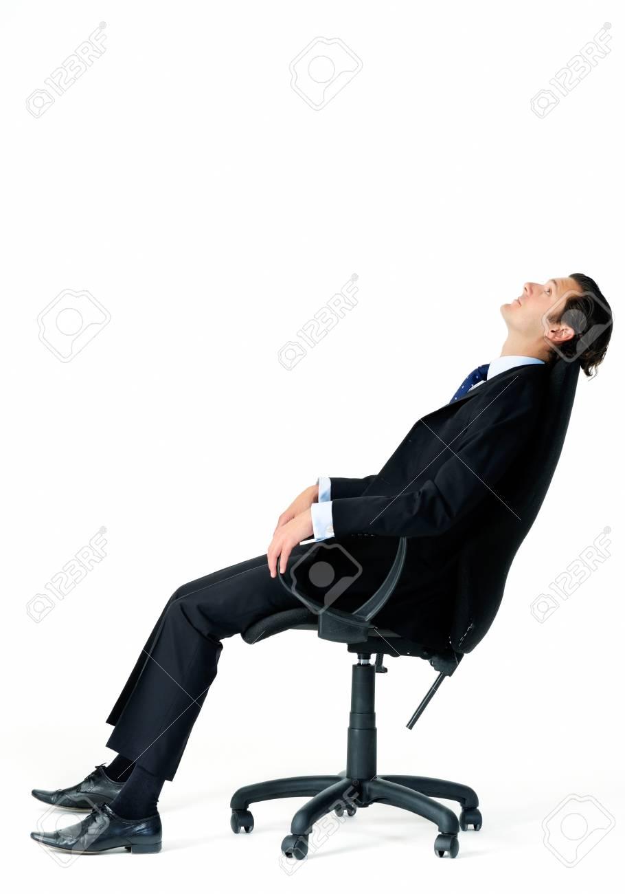 penche sa chaise en arrière bureaurêver en sur se ses Travailleur à venir vacances d'entreprise de tailleur qSpGLVUjzM