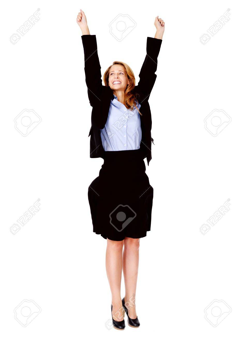 successful business women celebrating cheer and happy stock photo successful business women celebrating cheer and happy expression isolated on white