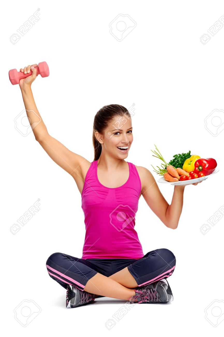 Healthy Eating And Exercise For Weightloss Diet Concept Stock inside Healthy Eating And Exercise