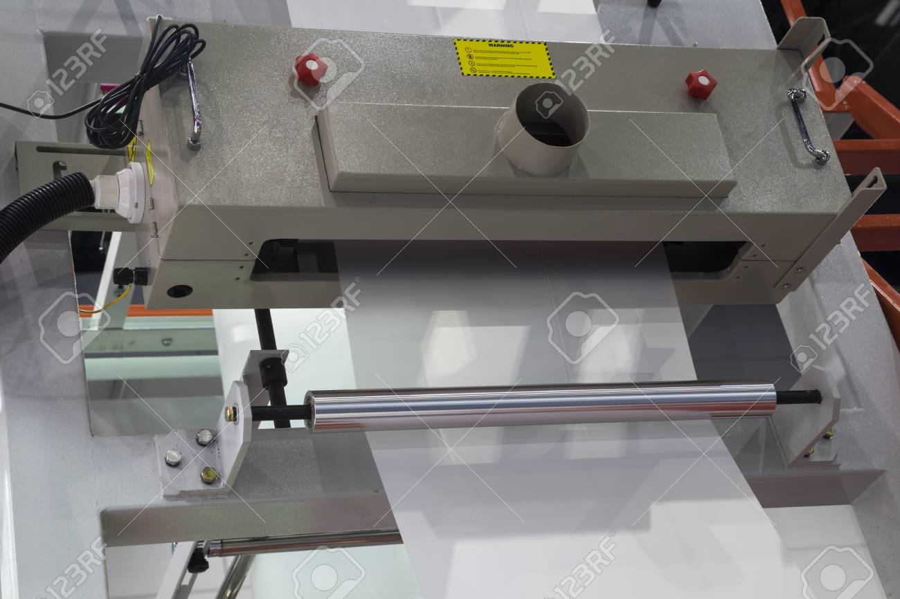Winding unit of extrusion plastic film blowing machine
