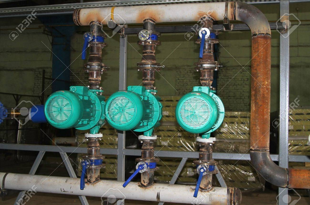 Installation Of Pump Group In A Boiler-house Stock Photo, Picture ...