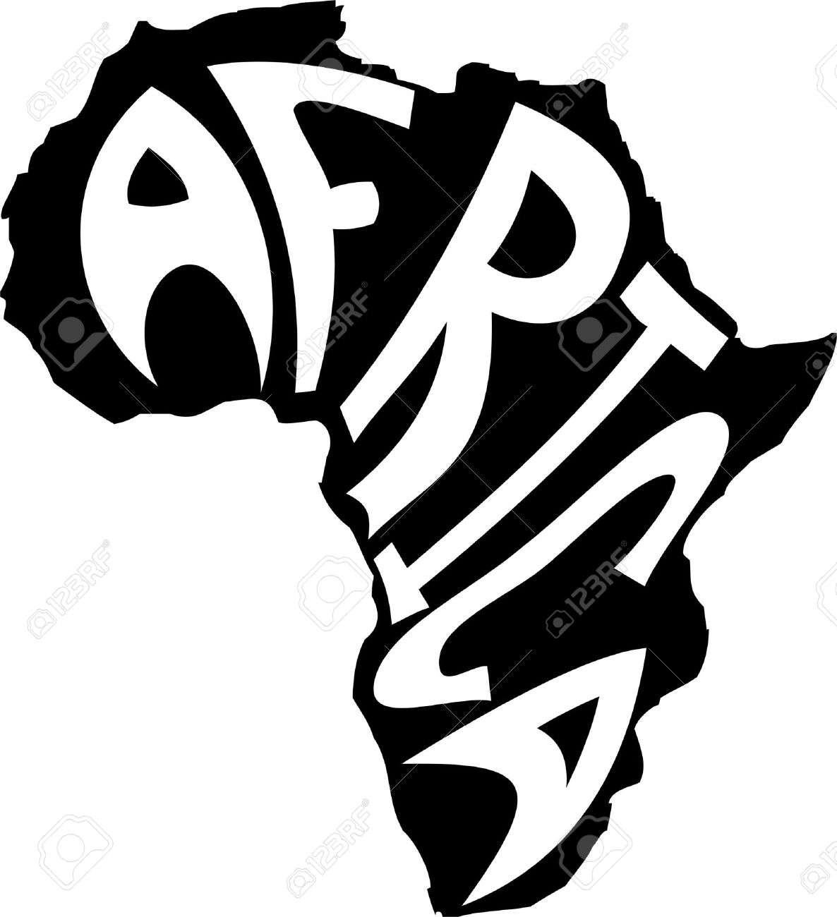 Map of Africa with the word inside Stock Vector - 10049398