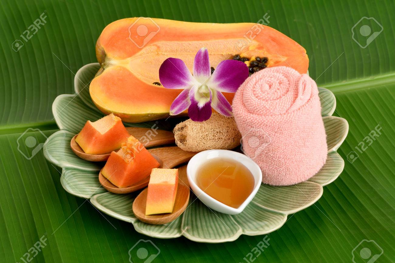 Papaya and honey, aesthetic skin, hair, acne and dark spots on