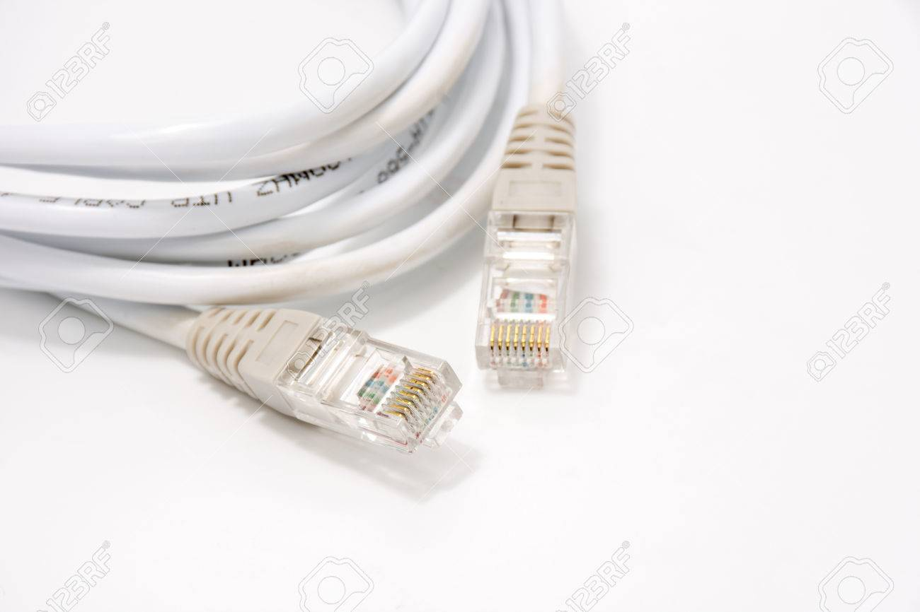 Wireless LAN Cable On White Stock Photo, Picture And Royalty Free ...