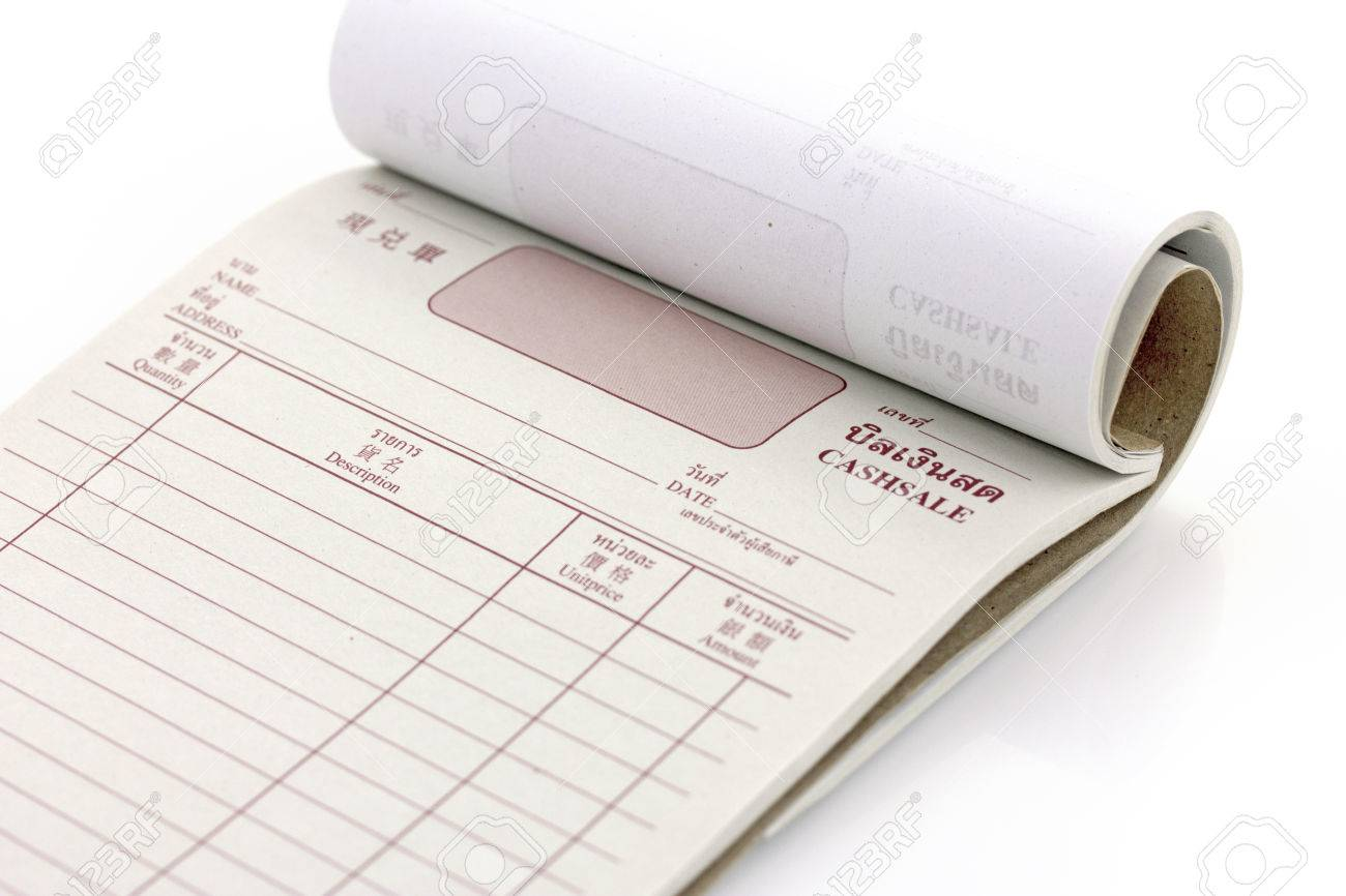 Invoice Book Bill Pad Template Stock Photo Picture And Royalty - Invoice book template