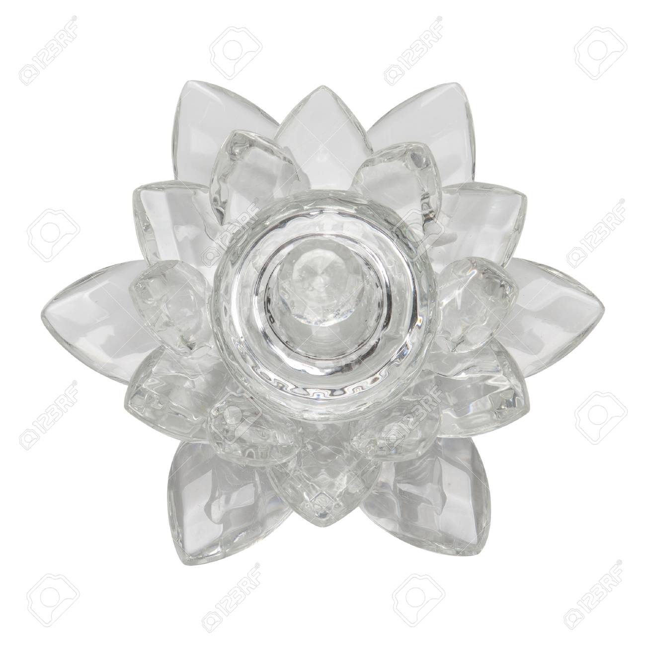 Crystal Lotus On White Background Stock Photo Picture And Royalty