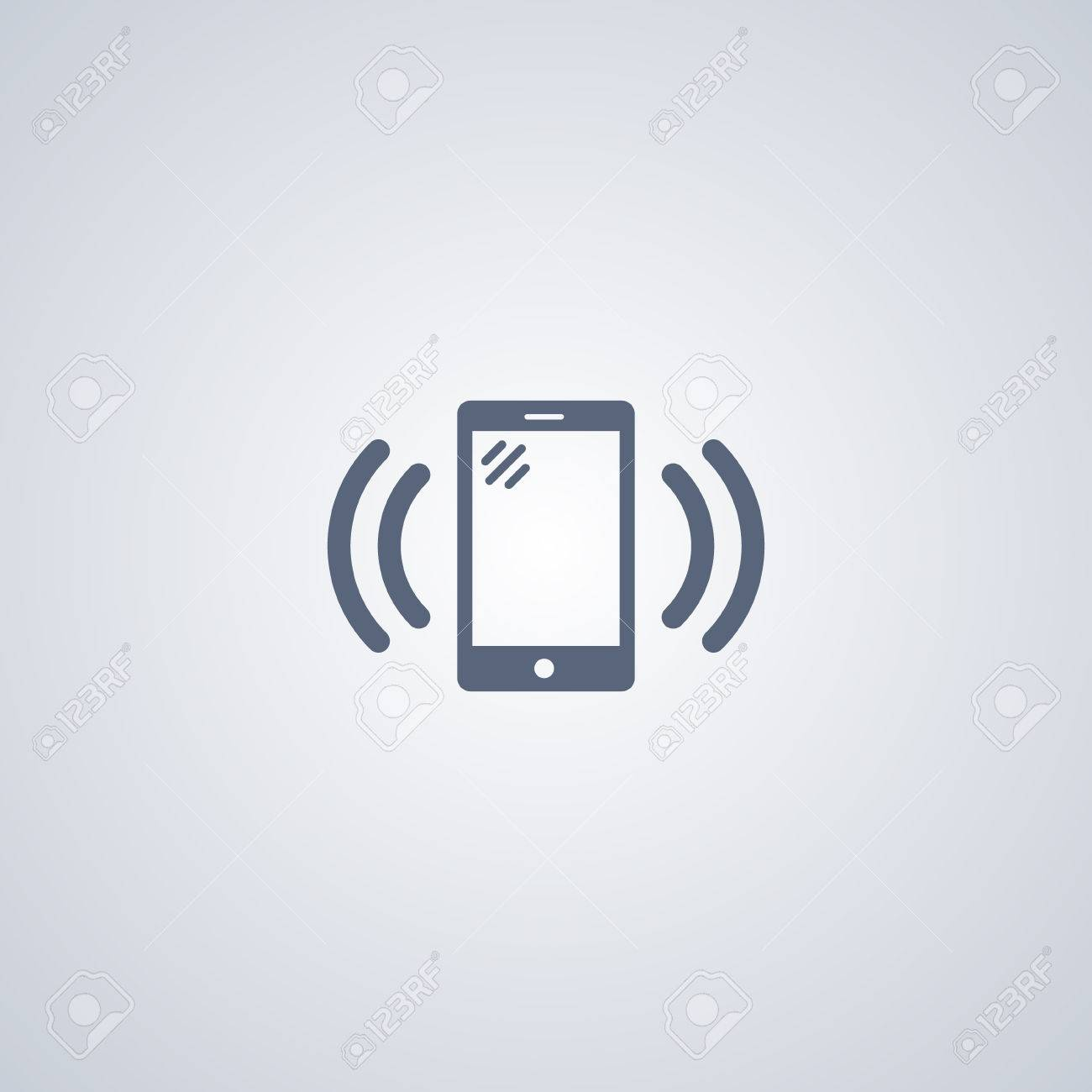 Vibration Smartphone Vector Icon Royalty Free Cliparts, Vectors, And ...