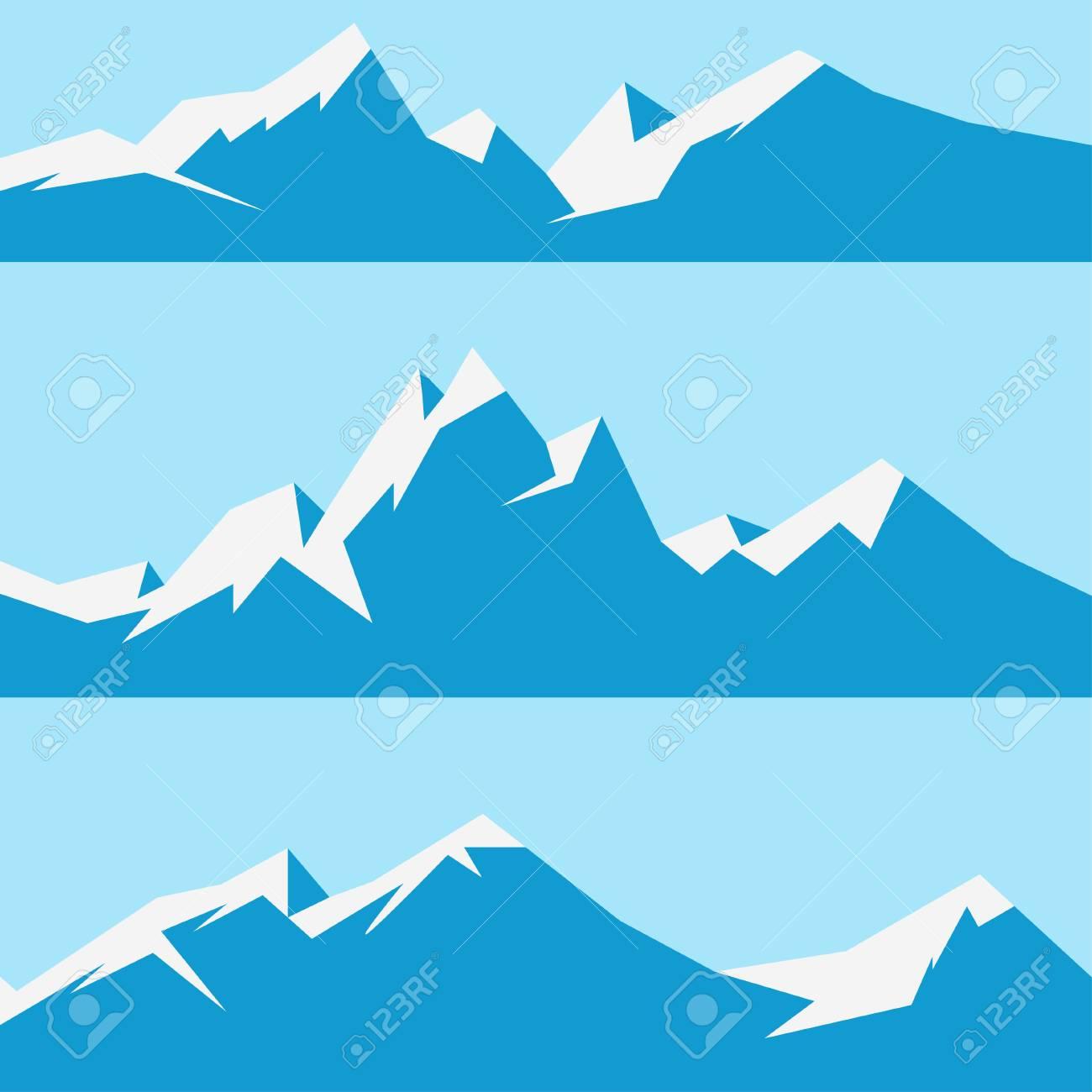 雪山を設定しますのイラスト素材ベクタ Image 63285649